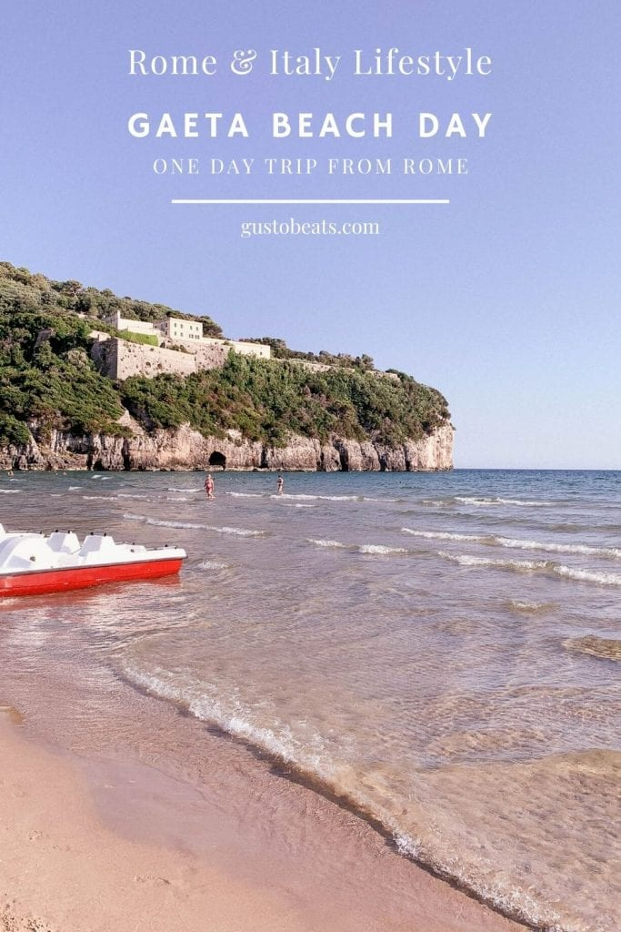 Gaeta Beach Day with beach, sea, pizza and wonderful summer sunset for an ideal one day trip from Rome