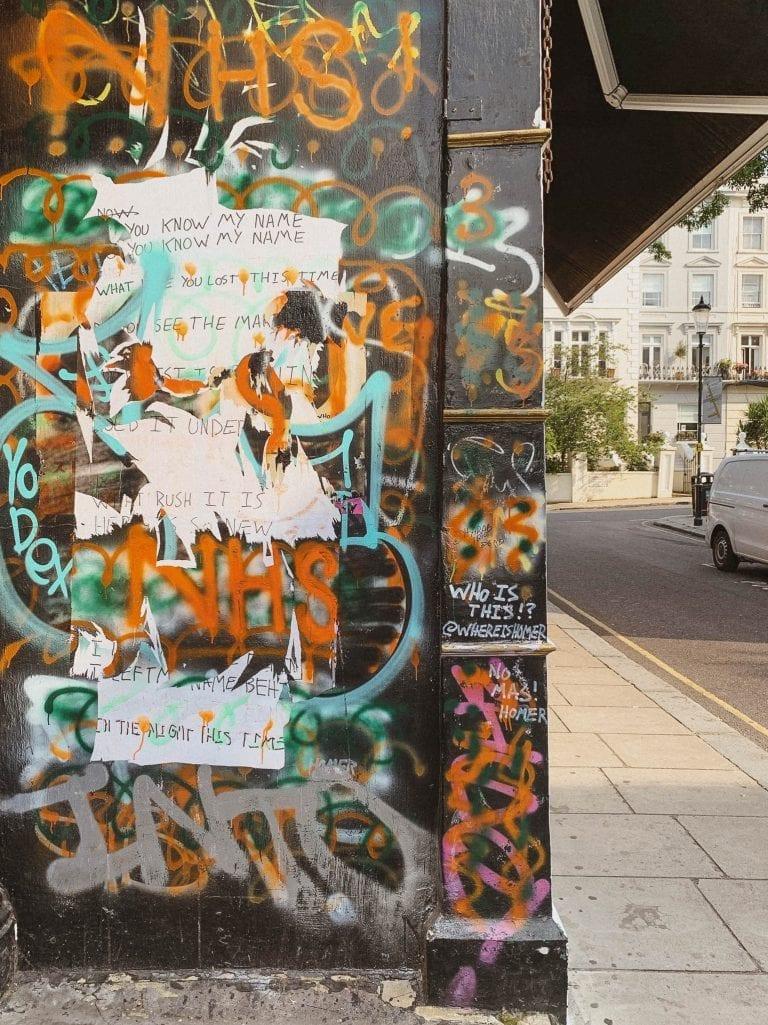 Street art is part of Notting Hill in London