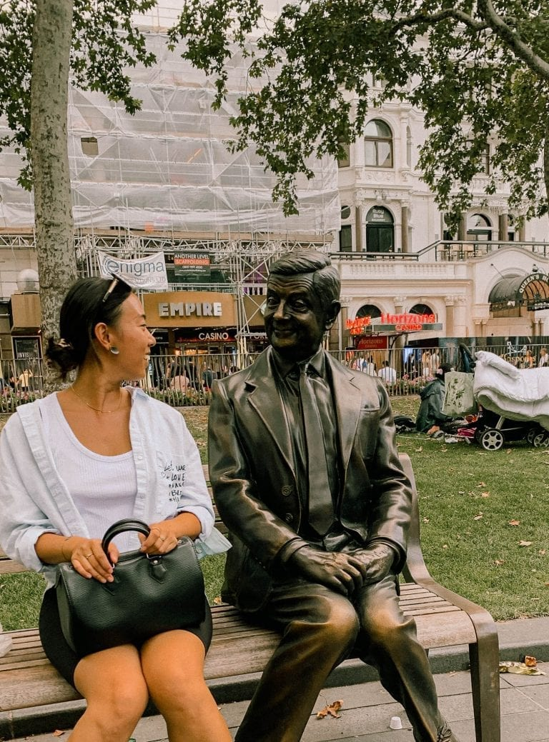 Have a photo with Mr.Bean in Lecestor Square in London