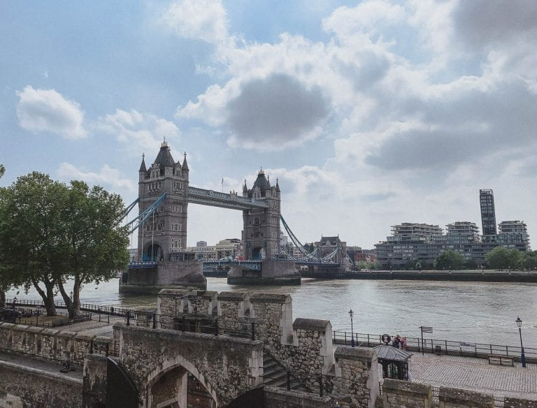 From Tower of London you can see Tower Bridge as well