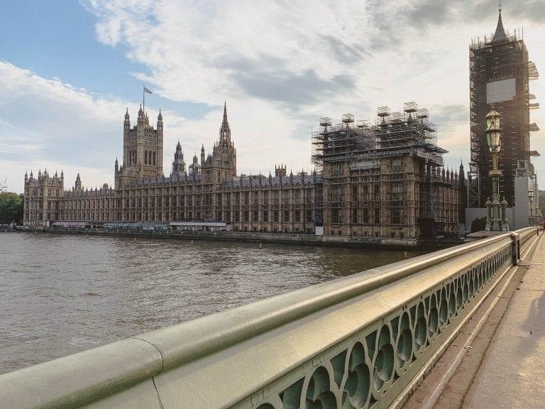 Big Ben under maintenance in London