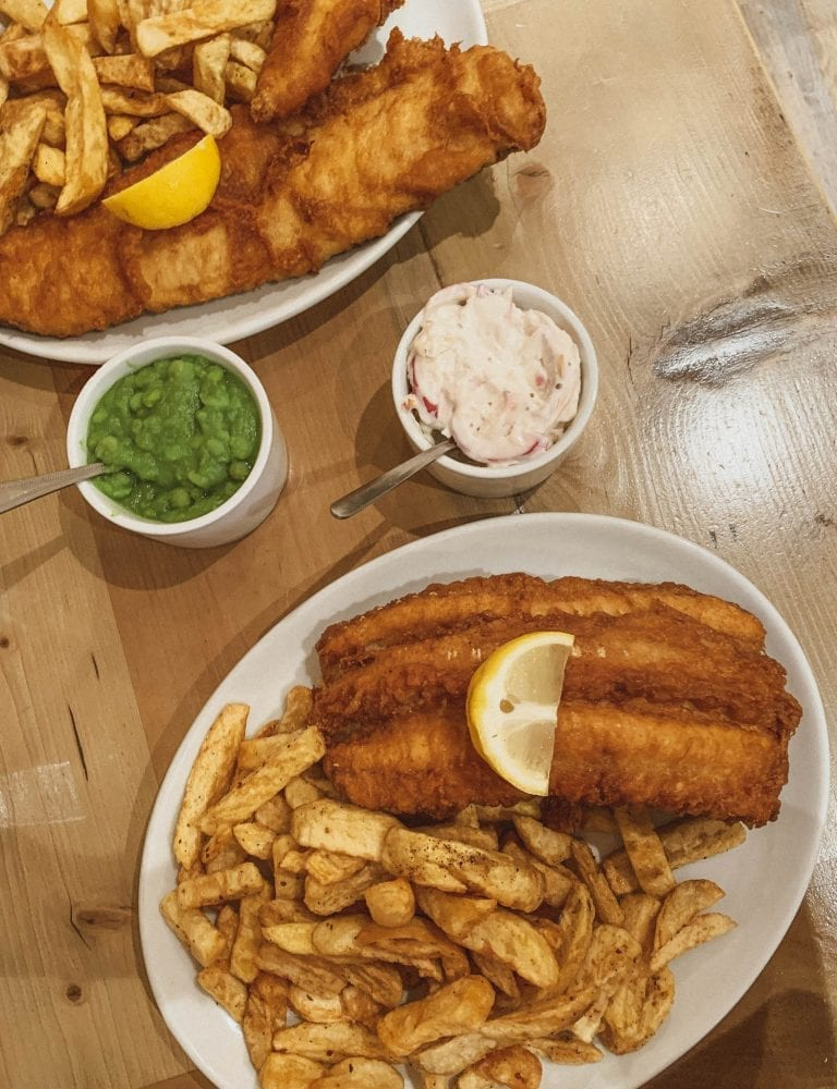 """Fishers offers not only authentic London's fish and chips freshly but also its potion is """"horrible"""""""