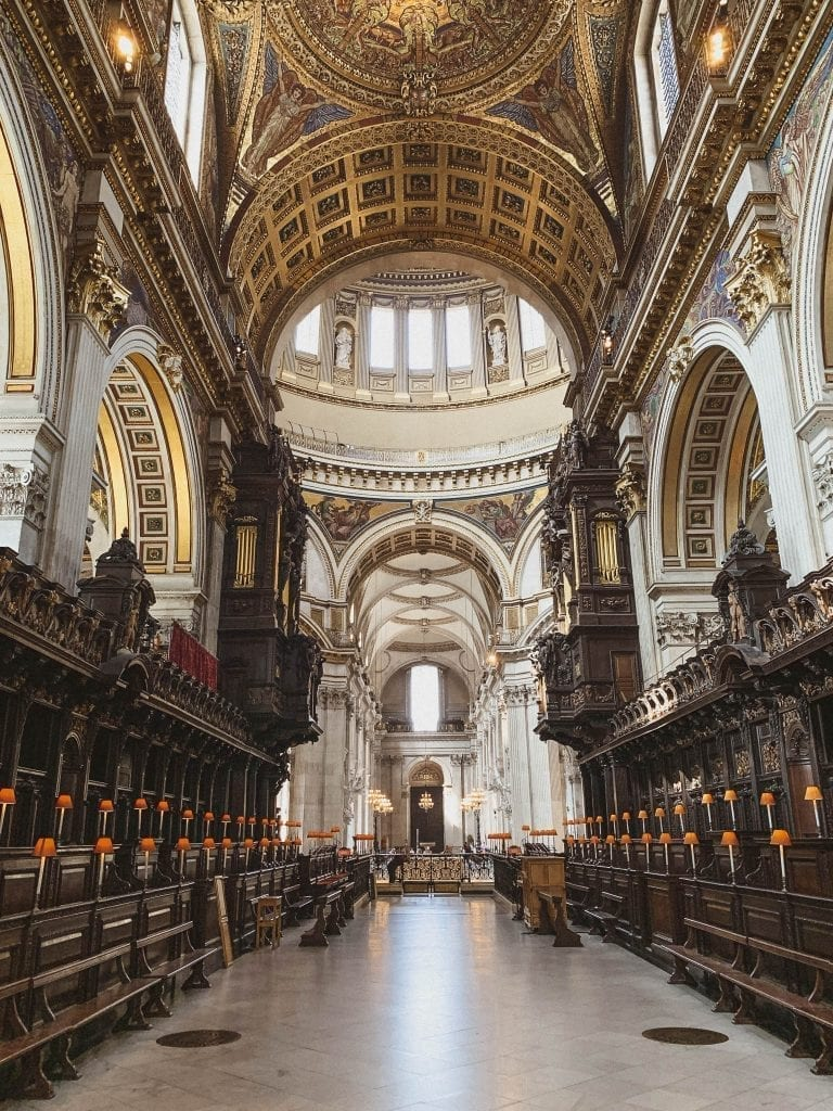 St.Paul's Cathedral in London is a must-visit place