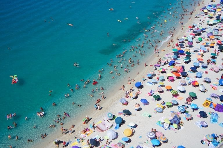 ferragosto is a national holiday for roughly 90% of italians to go on vacations on the seaside or mountains