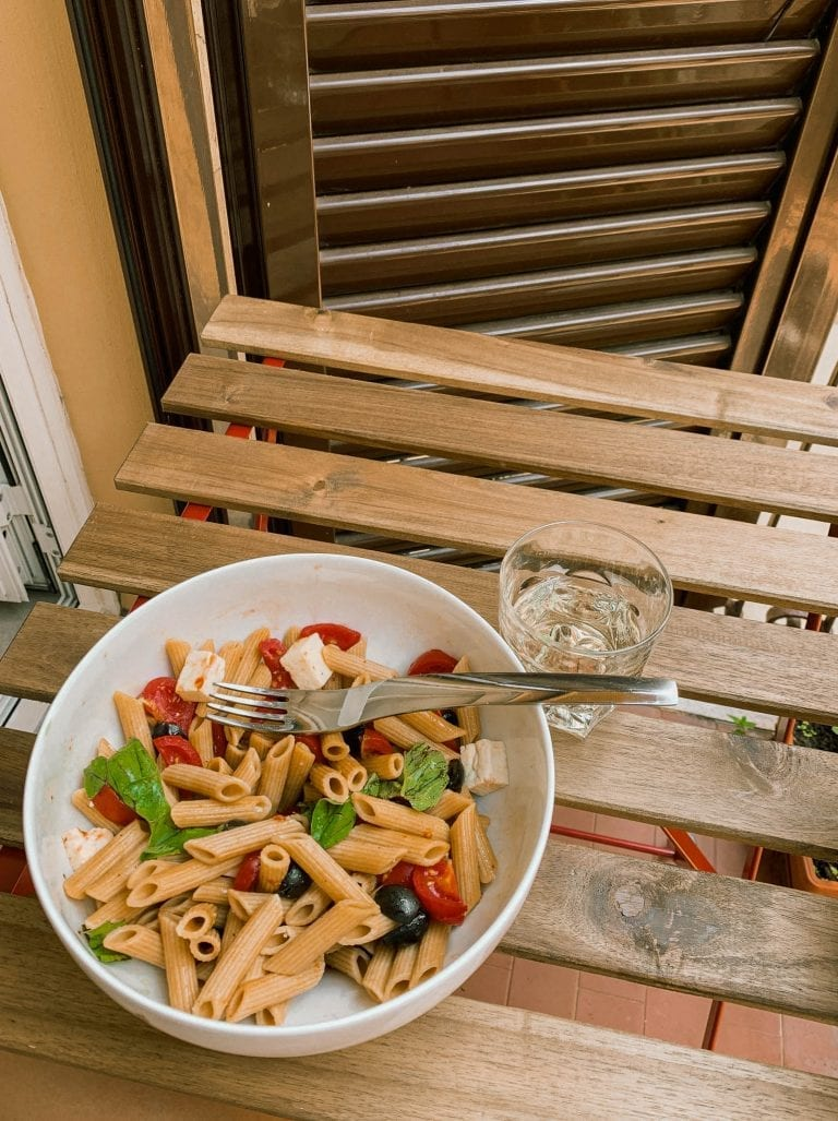 Multigrain Penne Salad also known as cold pasta salad is one of the most common summer dish in Italy