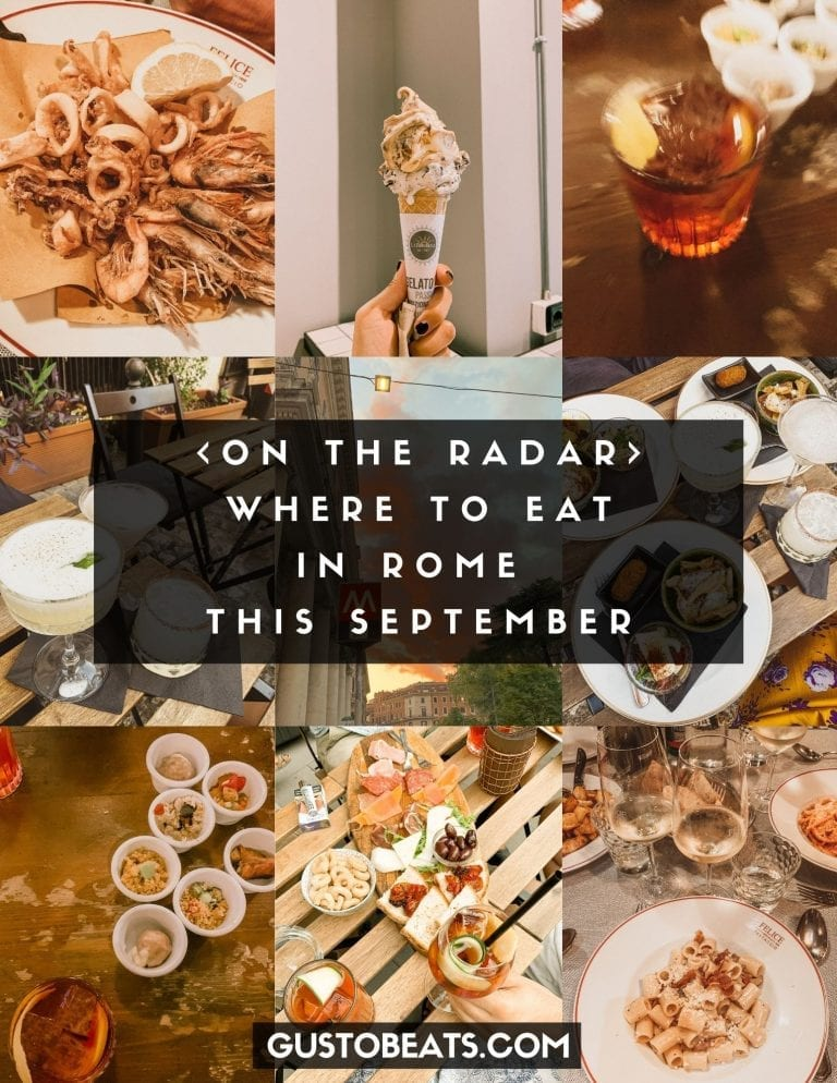 Where to eat in Rome September list for your next food hunting trip in Rome