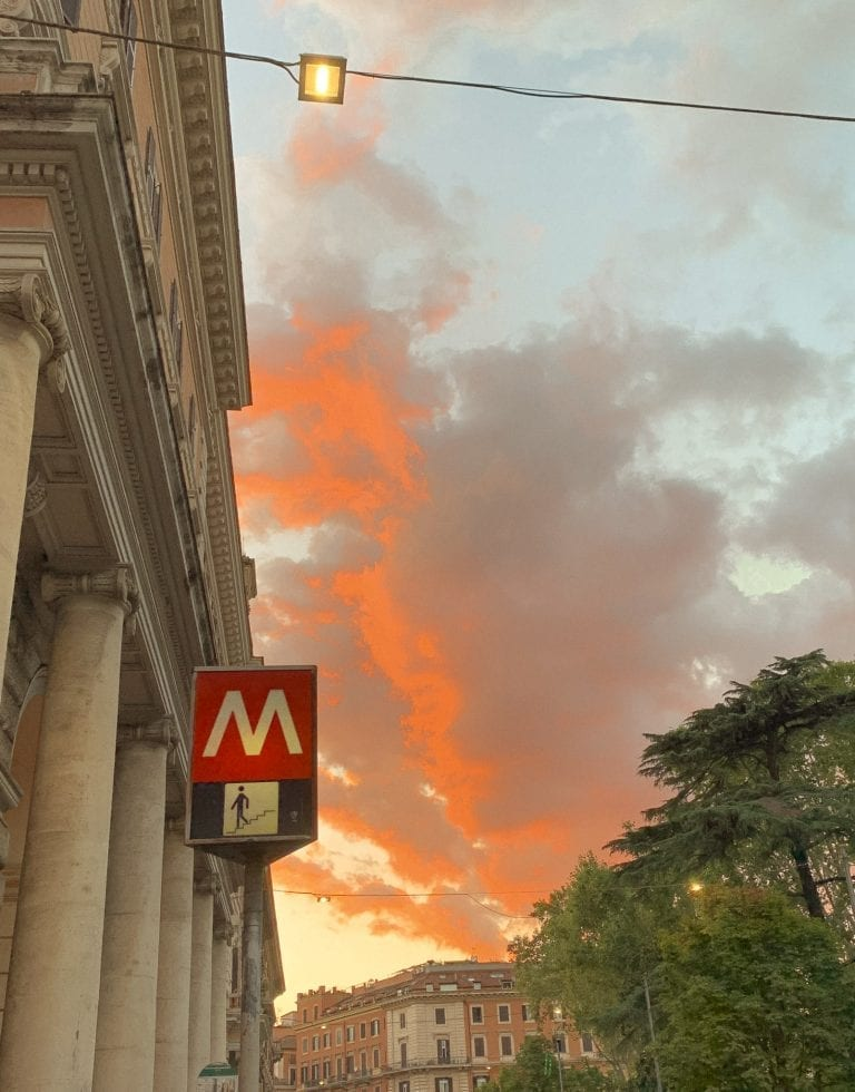 Where to eat in Rome September list, Gatsby cafe's outdoor area will give you the best Rome sunset in this late summer season