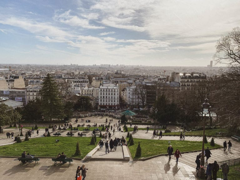 Paris city view from sacre coeur in Montmartre