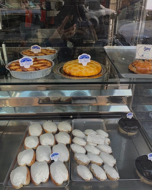 maritozzo and other pastries by Regoli in Esquilino in Rome